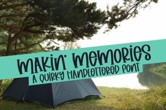 Web Font Makin' Memories - A Quirky Handlettered Font Product Image 1