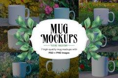 7 Photoshop Mug Mockups and 11 high quality PNG Images Product Image 1