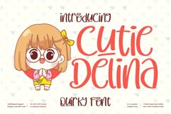Cutie Delina - Quirky Handwritten Font Product Image 1