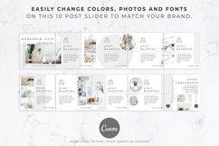 Instagram Post Carousel for Canva   Slideshow   White Linen Product Image 6