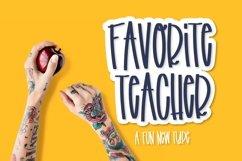 Favorite Teacher - A Fun Marker Font Product Image 1
