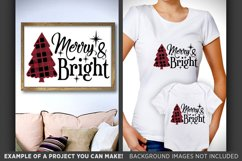 Plaid Christmas Tree Svg Merry and Bright SVG - Plaid Svg - Product Image 2
