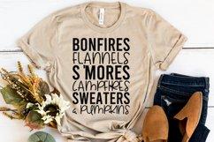 Fall Quote - Flannel Bonfires S'Mores Campfires Pumpkins Product Image 6