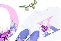 Watercolor monogram,Floral Alphabet, spring flowers Product Image 3