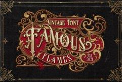 Famous flames vintage font Product Image 1