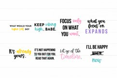 Law Of Attraction Quote SVG Bundle - Colorful Version Product Image 2