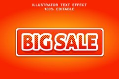 big sale text effect editable vector Product Image 1