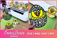 THE CUTE EASTER CHICK SVG BUNDLE 6 MANDALA ZENTANGLE DESIGN Product Image 2