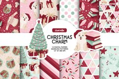 Cozy Christmas Digital Papers Product Image 1