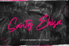 Santy Ehisa - Stylish Script Font Product Image 1