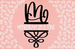 Monogram Split Letters With Flourish Font Product Image 1