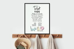 Toilet Rules - Printable Product Image 5
