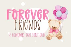 Forever Friend- A handwritten font duo Product Image 1