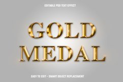 Gold medal text effect Product Image 1