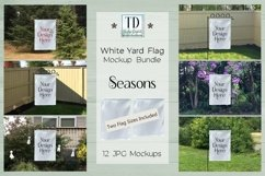 White Yard Flag Mockup Bundle, Seasons, Garden Flag Mock-Up Product Image 1