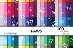 White paws seamless pattern Product Image 1