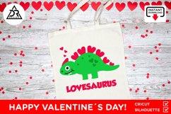 Valentines Baby Dinosaur SVG Product Image 3