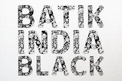 Batik India Black Font Product Image 2