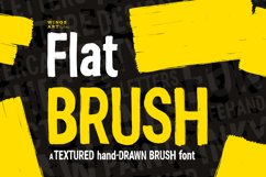 Flat Brush Font Product Image 1