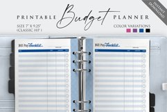 """7"""" x 9.25"""" Paycheck Budget Printable Planner Product Image 4"""