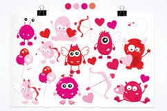 Valentine Monsters graphics and illustrations Product Image 2