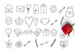 Doodle Valentines symbols svg hearts svg, arrows svg Product Image 3