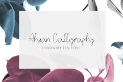 Ahsan Calligraphy Script Font Product Image 1