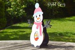 Snowman, Christmas egg holder design SVG / DXF / EPS files Product Image 3