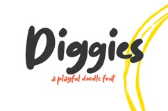 Diggies - A Playful Doodle Font Product Image 1