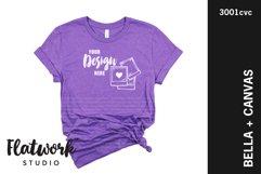 Team Purple Bella Canvas 3001 Mockup| No Props Mockup Product Image 1