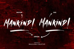 MANKIND - SVG Brush Font Product Image 2