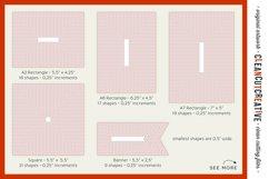 Stitched Nesting Shapes SVG | card making sketch foil paper Product Image 3