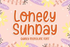 Lonely Sunday - Quirky Monoline Font Product Image 1