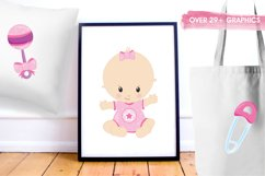 Baby Girl graphics and illustrations Product Image 5