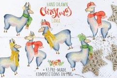Christmas lama watercolor creator 2 Product Image 3