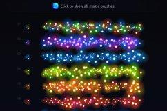 Magic Christmas Lights Vector Brushes Big Set Product Image 2