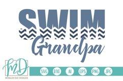 Swim - Swimming - Proud Grandpa - Swim Grandpa SVG Product Image 1