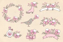 Doodle Design Elements with Orchids Product Image 2