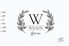 Family monogram svg, Wedding split monogram frame SVG Product Image 1