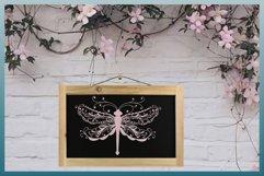 Beautiful Intricate Dragonfly Mandala Zentangle SVG Product Image 4