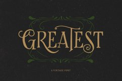 Greatest - A Vintage Font Product Image 1