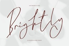 Brightly - A Signature Font Product Image 1