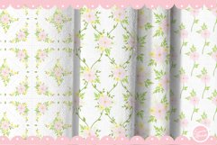 Pink Flower Seamless Patterns Product Image 6