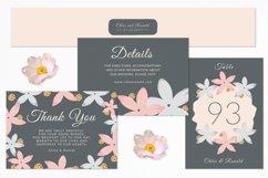 Modern Floral Wedding Invitation Set Product Image 3