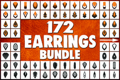 172 Earrings template SVG - Cut files - Leather earrings SVG Product Image 1