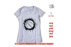 svg files, basket dripping SVG, basketball Cut file, Product Image 1
