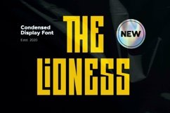 Web Font The Lioness - Condensed Display Font Product Image 1