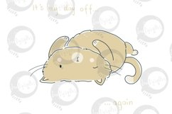 Day Off Cat | Clip Art Illustration | PNG/JPEG Product Image 2