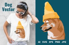 Dog Vector Illustration | Cone Dog Product Image 1