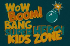 Drolly comics book funny font Product Image 4